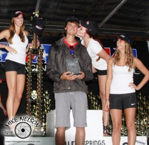 Big day for Logan Cipala...4 class wins, fast time of the day, AMA Amateur Rider of the Year, and attention from girls!
